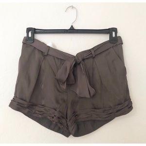 NWT BCBGMAXAZRIA Size 6 Dusty Olive Silky Shorts